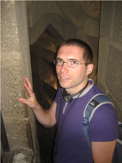 Mike in Gaudi tower